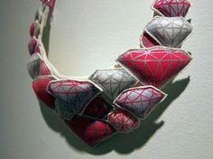 felt diamonds by Hitoko Okada