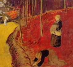 Paul Serusier - The Fern Harvesters in the Boid d'Amour at Pont Aven 1910