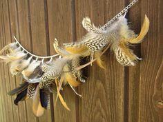 #EtsyGifts feather garland fall decoration von HolzundLeinen auf Etsy