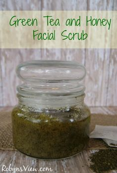 Green Tea and Honey Face Scrub Now that the hustle and bustle of the holidays are over it is time to treat yourself to a new facial scrub.