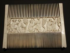 Ivory courtship comb, French 1325 - 1350