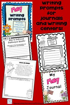Writing prompts for May for 1st to 3rd grades! Fun prompts for special days in May. Use in journals, for morning work, in small groups, or in writing centers.