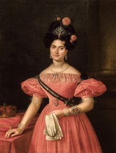 1831 Luis de la Cruz y Rios - Maria Christina of Bourbon-Two Sicilies