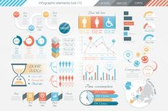 Posted by @newkoko2020 Infographic Elements (v11) by Infographic Paradise on @creativemarket