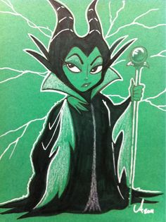 Maleficent by Amy Mebberson, via Flickr