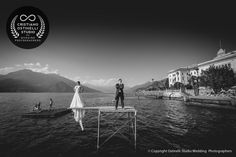 lake como wedding photo