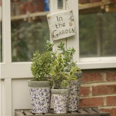 aged ceramic garden planter or plant pot by the orchard | notonthehighstreet.com