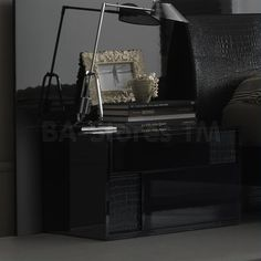 Rossetto USA Nightfly Left Nightstand in Black by Rosetto