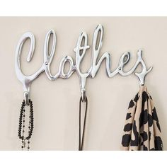 Comfify Shabby Chic Style Clothes Coat Rack Hooks Polished Metal Contemporary Wall Mount Clothing Hooks - 4 Wall Hooks, Cute Women Decorative Clothing Rack - Screws Included Hanging Coat Rack, Coat Hooks, Wall Hanger, Wall Hooks, Clothes Hooks, Hook Rack, Removable Wall, Metal Crafts