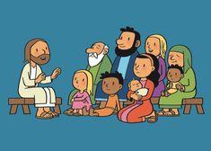 Bible Stories For Kids, Religion Catolica, Bible Illustrations, Jesus Art, Jesus Lives, In God We Trust, Sunday School, Storytelling, Clip Art