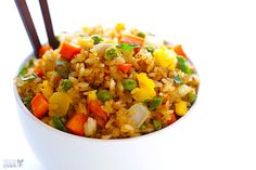 Fried Rice is an easy dish to prepare even for a beginner! Plus, it is vegeterian and healthy :)