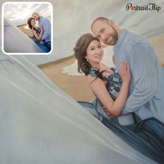 PortraitFlip - We turn your Photo into a Handmade Painting Couple Portraits, Wedding Portraits, Couple Photos, Wedding Painting, Couple Painting, Your Photos, Paintings, Free Shipping, Amazing