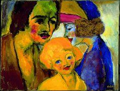 Familienbild 1947 - by Emil  Nolde (1867-1956), German