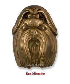 Michael Healy Shih Tzu Dog Knocker  doorknockersandbells.com