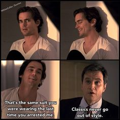 Peter catching Neal again <3 White Collar Quotes