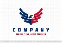 Pre-designed logo 7272: USA Eagle Logo Logo Branding, Branding Design, Logo Design, Graphic Design, American Logo, Mountain Logos, Bird Logos, Eagle Logo, Company Slogans