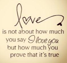 proving love, well said