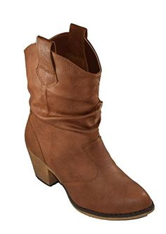 Charles Albert Women's Modern Western Cowboy Distressed Boot with Pull-Up Tabs (6, Cognac) * Find out more about the great product at the image link.