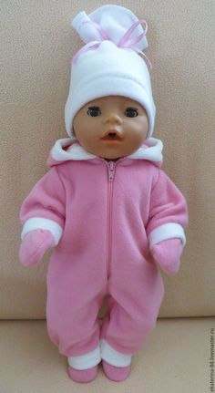 ручной работы. Ярмарка Мастеров - ручная работа. Купить Комбинезон для куклы. Handmade. Розовый, Беби Борн