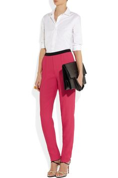 Sonia Rykiel|High-rise tapered woven crepe pants|NET-A-PORTER.COM