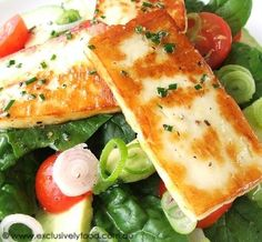 Gluten free recipe avocado and haloumi salad. I love this salad, so fresh an light