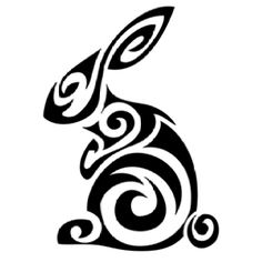 Bunny tattoo. I want a tattoo similar to this, but in the shape of a star.