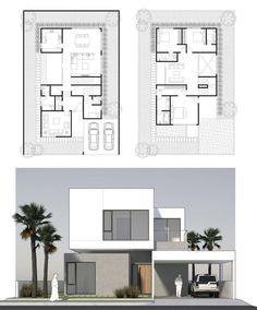 Minimalist House Design, Minimalist Home, Model House Plan, House Plans, Home Building Design, Building A House, Small House Diy, Japanese Style House, Villa Plan