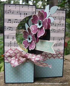 Fabulous Flower Flip Card using multiple media, tools, & techniques ~ by Nancy Lempinen-Leedy, Canopy Crafts, who explains how