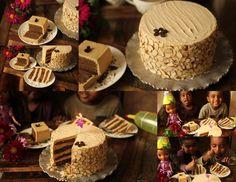 Almond Roca Mocha Cake, low carb chocolate cake, gluten free cake