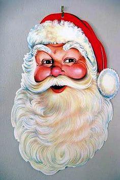 Vintage Die-Cut Santa Claus