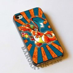 iPhone 5, iPhone 5S Case, iPhone 5C case, iPhone 4 / 4S case, Samsung Galaxy S3, Samsung Galaxy S4 - Pokemon charizard