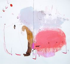 Alison Hall Cooley  Tourangelle   mixed media on paper   38 x 42 inches