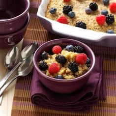 Amish Baked Oatmeal Recipe -The first time I had this treat was at a bed-and-breakfast in Lancaster, Pennsylvania. To me, it tasted just like a big warm-from-the-oven oatmeal cookie! —Colleen Butler, Inwood, West Virginia