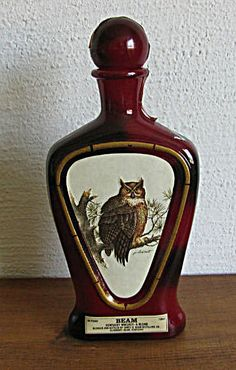 Jim Beam whiskey decanter with owl