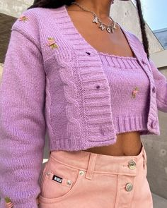 Pastel Outfit, Purple Outfits, Girly Outfits, Cute Casual Outfits, Aesthetic Fashion, Aesthetic Clothes, Clueless Aesthetic, Mode Outfits, Fashion Outfits