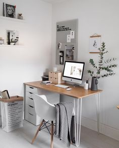 Home office. Bedroom office space- Home office. Bedroom office space Home office. Home Office Bedroom, Bedroom Desk, Home Office Design, Home Office Decor, Office Ideas, Office Designs, Small Home Office Desk, Apartment Office, Computer Desk In Bedroom