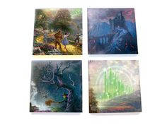Thomas Kinkade (The Wizard of Oz™ - Dorothy Discovers the Emerald City™) StarFire Prints™ Glass Coasters SPCSTR280 - Thumbnail 1