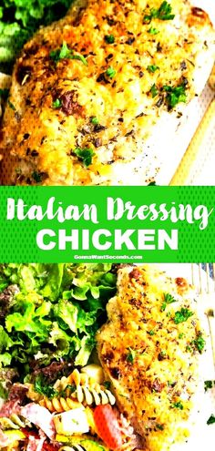 Italian Dressing Chicken Move over chicken parm, our Italian Dressing Chicken packs in Italian flavors & takes 5 minutes to assemble! Add pasta & veggies for a quick midweek meal! Italian Chicken Recipes, Easy Chicken Recipes, Healthy Chicken, Italian Chicken Breast, Italian Baked Chicken, Indian Chicken, Chicken Honey, Oven Chicken, Canned Chicken