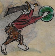Detail from medieval manuscript, British Library Stowe MS 17 'The Maastricht Hours', f229v