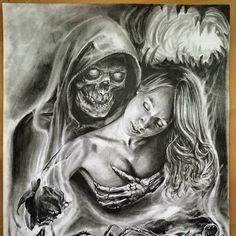 31 Tattoos for Women - Tattoo Designs Chicano Tattoos Gangsters, Lettrage Chicano, Chicano Art Tattoos, Tattoos Skull, Dark Art Drawings, Drawing Art, Japanese Demon Tattoo, Valkyrie Tattoo, Tattoos Realistic