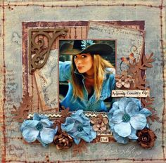 cowgril scrapbook layouts site:pinterest.com | Love western pages! I think the Crafty ... | Crafting_Scrapbooks, Alb ...