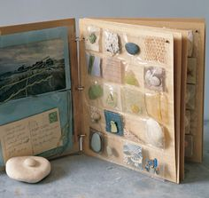 pocket pages...this is a neat way to store the little items our children find on nature walks
