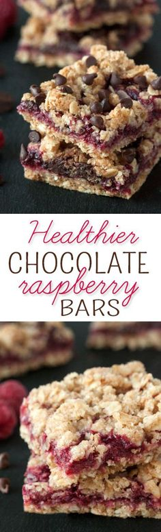 Simple and delicious chocolate raspberry oat bars {vegan, dairy-free, 100% whole grain}