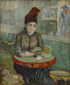 Agostina Sagatori Sitting in the Cafe du Tambourin, 1887.  Vincent van Gogh