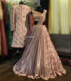 Indian wedding gowns – Engagement dress for bride – Designer bridal lehenga – Bride and groom ou Indian Wedding Gowns, Indian Gowns Dresses, Indian Bridal Outfits, Indian Weddings, Engagement Dress For Bride, Couple Wedding Dress, Indian Engagement Outfit, Engagement Gowns, Wedding Dresses