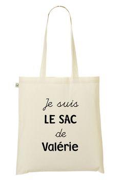 """Tote Bag à message """"Prénom"""""""