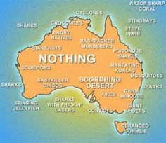 Australia: Not just an island, but a hella scary one too!