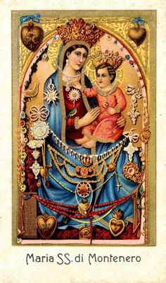 A devotional image from the shrine of the Madonna of Montenero, the patron of Tuscany