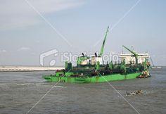 Green Dredge in Lagos River Beach Photos, Image Now, River, Stock Photos, Green, Beach Pictures, Rivers