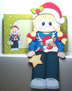 Card Gallery - 3D On the Shelf Card Kit - Little Christmas Jumper Girl